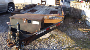 25x6 flatbed heavy equipment trailer