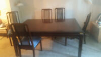 dining table and 7 chairs