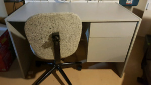 Gray desk with matching chair