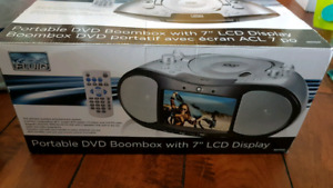 """Portable DVD boombox with 7"""" LCD display"""