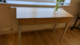 Ercol console table with drawer.