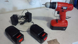B&D 18v Drill/Grass&Hedge Trimmers & Max 14.4 v Impact Wrench