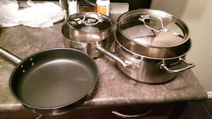 Paderno Steelchef 5 piece pots and pan