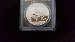 2014 PCGS MS69 Chinese Panda With Gold Foil Label