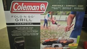 Brand New Coleman Fold N Go Charcoal Grill