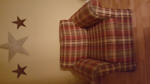Plaid couch and chair
