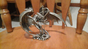 "Pewter dragon statue ""The Sky King"" for sale"