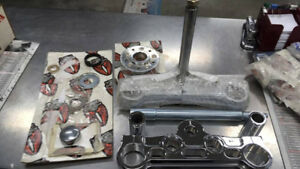 KIT COMPLET 49MM TREE CHROME POUR HARLEY DYNA W/G