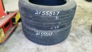 Pair of 2 Continental ContiProContact 215/55R17 tires (50% tread