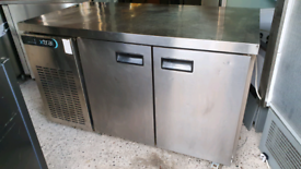 Foster xtra commercial prep counter chiller stainless steel fully work