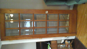 pine french doors with beveled glass