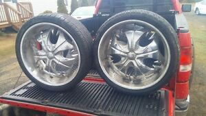 22 inch falken tires  and rims
