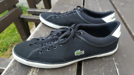 72f191142d3e MENS LACOSTE ANGHA 218 4 JD TRAINERS. SIZE UK 12.