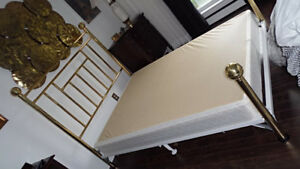 Vintage Double Full Brass Bed Bedroom Frame