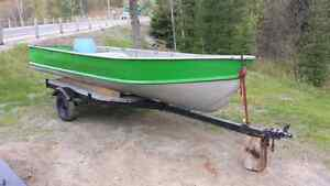 16FT ALUMINUM BOAT WITH CONSOLE