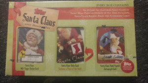 Topps Santa Claus card set, including autograph and suit!