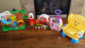 Little People, V-Tech and Fisher Price Toys