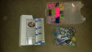 2 x Rainbow looms /  new packages elastics