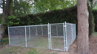 Cedar fencing Chain link fencing and landscaping