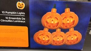10 PUMPKIN LIGHTS HALLOWEEN DECORATION