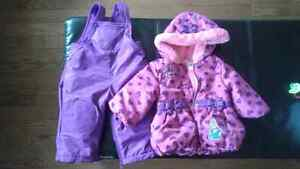 6-12 months girls snowsuit suit and size 5m boots