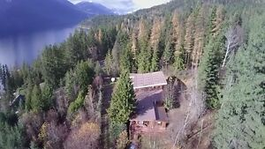 New Denver BC, small acreage with large log home