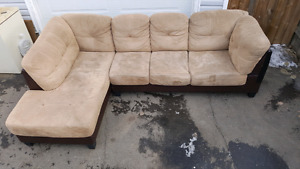 9x6 microfiber sectional couch. delivery is extra