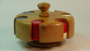 Antique Poker Chip Caddy