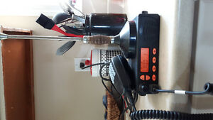TWO WAY RADIO WITH ANTENNA AND SAMLEX SEC 1212 POWER SUPPLY