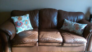 Leather Sofa 2 three seaters for sale