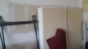 King Size frame and box spring