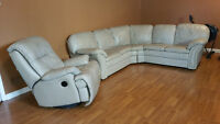 Leather Sectional and Recliner Chair  -  FOR SALE