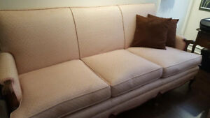 Antique Sofa and Armchair