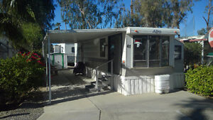 Park Model trailer in Desert Trails RV Park, El Centro, CA.