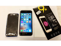 iPhone 6 Space grey Vodafone/Lebara with case and tempered glass