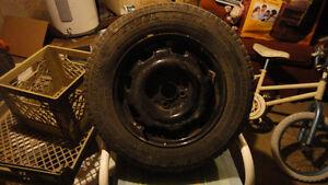 "4 14"" tires on rims"