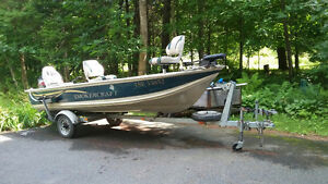 16 foot boat, motor & trailer priced to sell