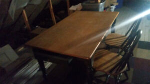 Solid Pine/two tone Dining Table