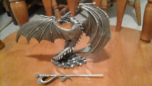 "Pewter dragon statue ""The Sky King"" for sale London Ontario image 3"