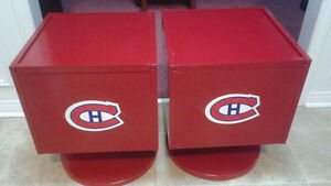 Montreal Candians Fans End Tables