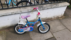 Girls bicycle, ages 4-5 years, wheel size 14 inches