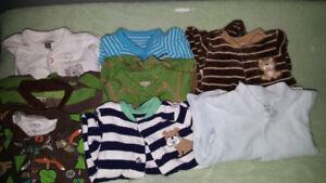 Baby boy newborn sleepers x8
