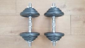 2x10 kg Dumbells Barbell Set - Proiron Weight Plate - Bars - Dumbbells