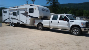 TRUCK AND 5TH WHEEL TRAILER FOR SALE