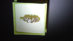 Ladies Gold and CZ Ring SIze 7 $125