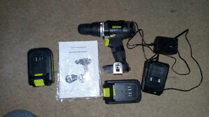 18V Cordless drill with 2 batteries power it $50