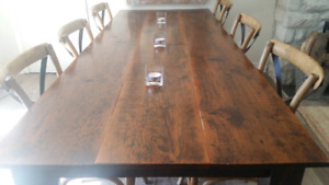 Rustic  Harvest table and chairs