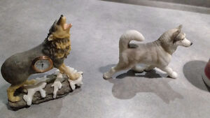 Assorted wolf collectibles