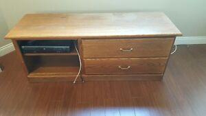 Oak TV Table