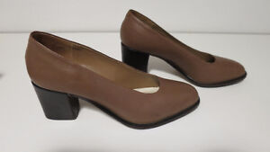 Brown Leather Pair of Shoes